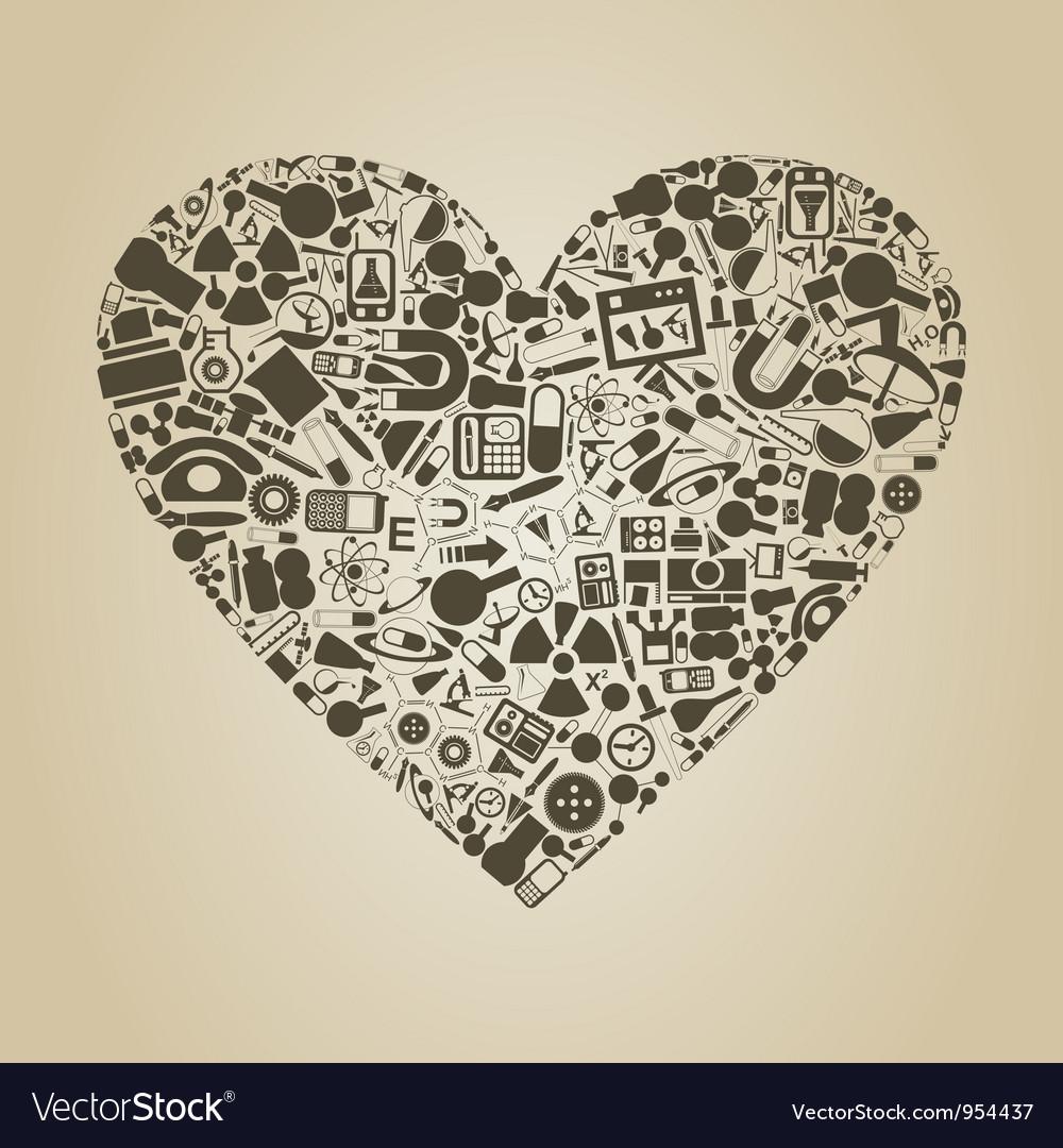 Heart a science vector