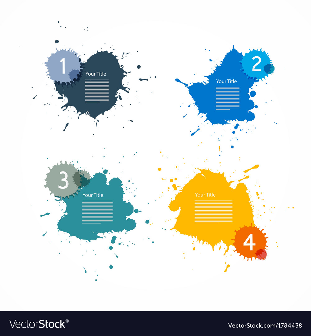 Colorful splashes set vector