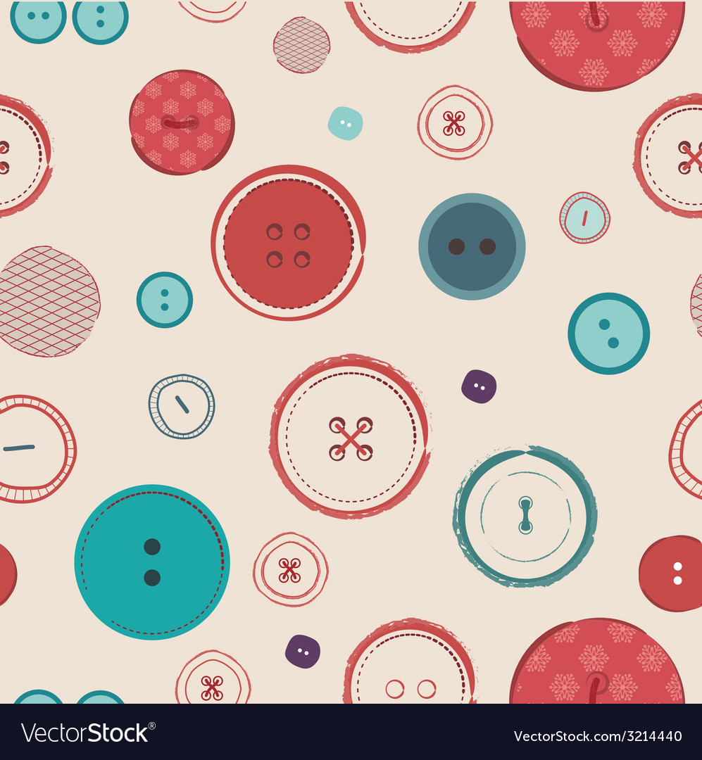 Retro seamless pattern bright colors buttons on vector