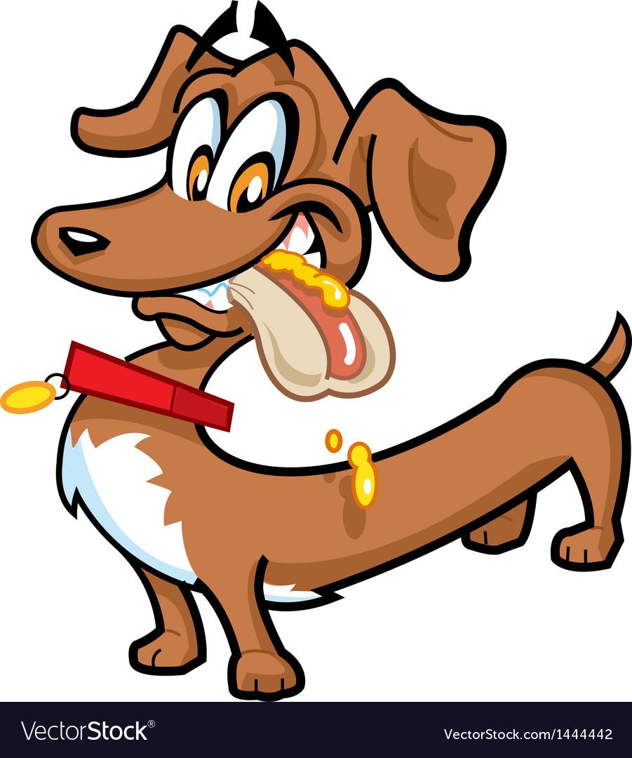 Dachshund hot dog vector