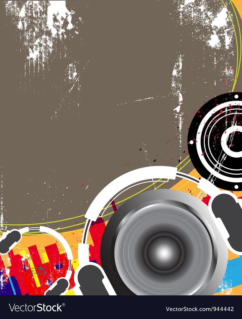 Music grunge design vector