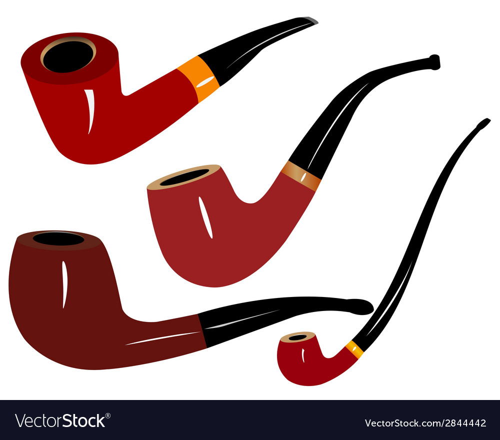Tobacco pipes vector