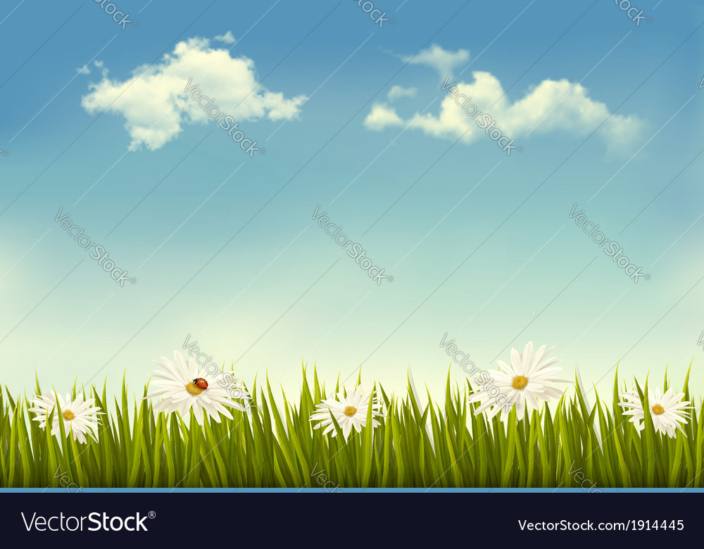 Retro nature background vector