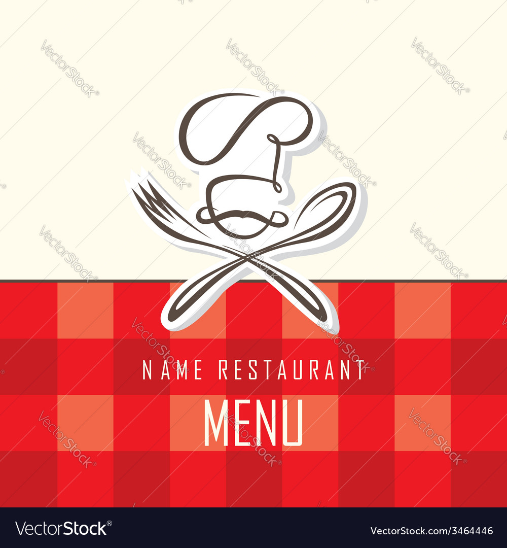 Chef hat fork and spoon vector