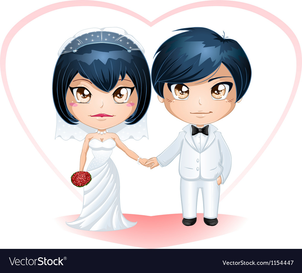 Bride and groom getting married 3 vector