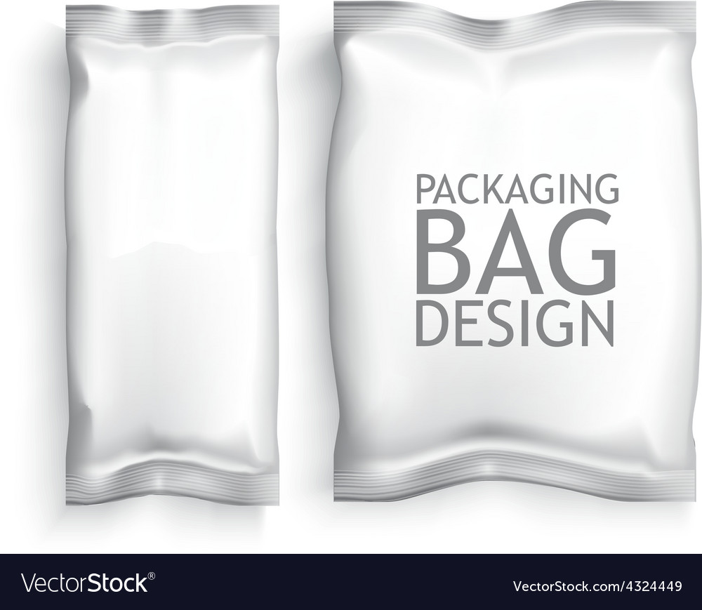 Blank foil food snack vector
