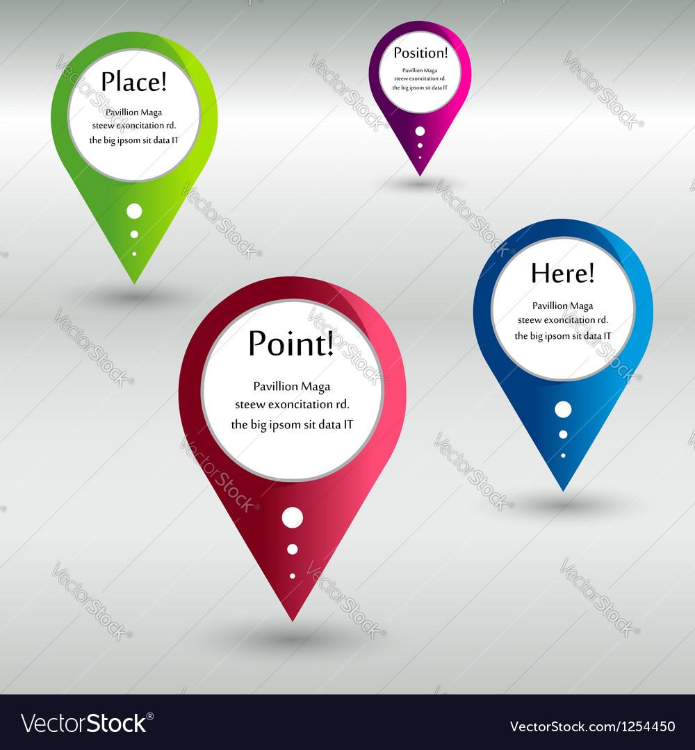 Location pointer vector