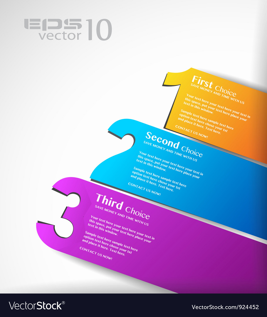Number bars vector