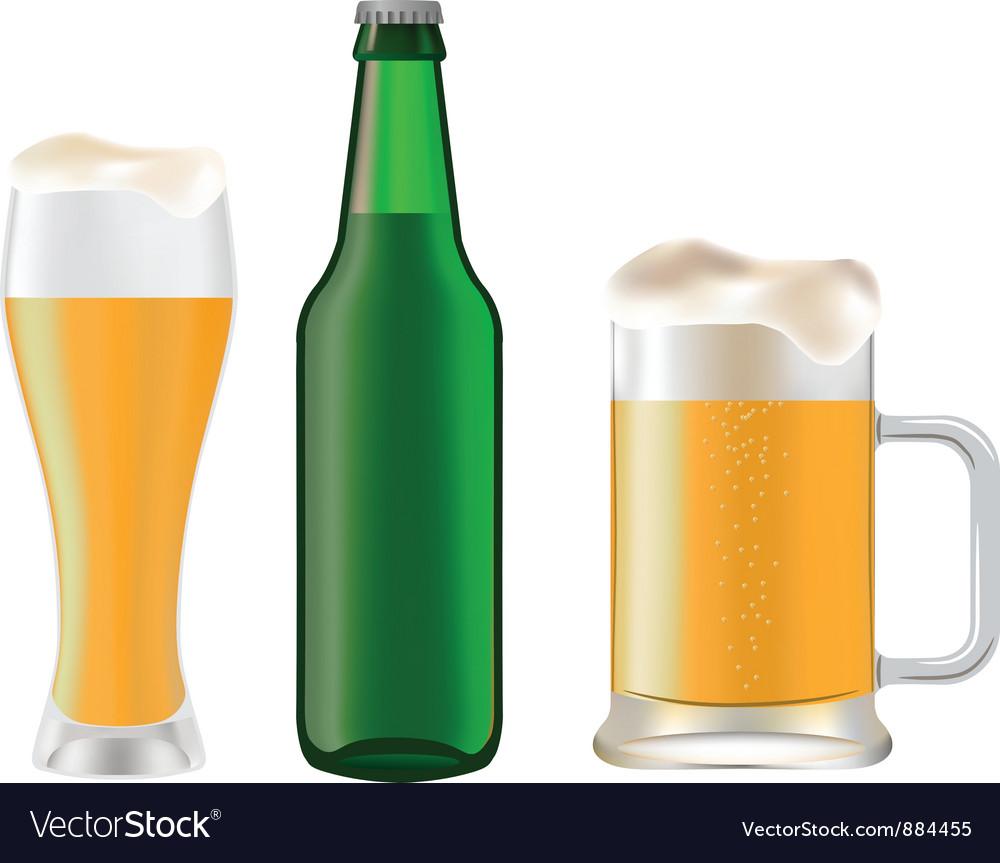 Beer bottle vector