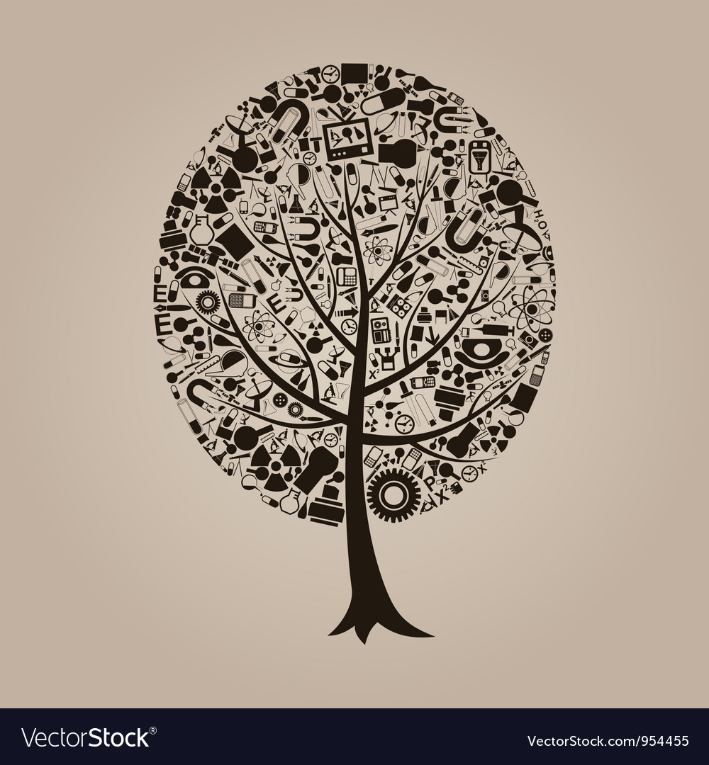 Tree a science vector