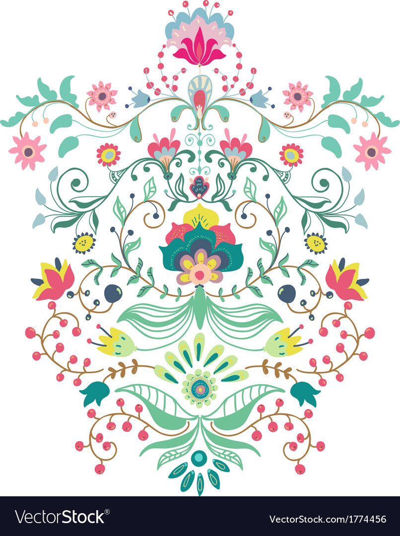 Beautiful floral ornament vector