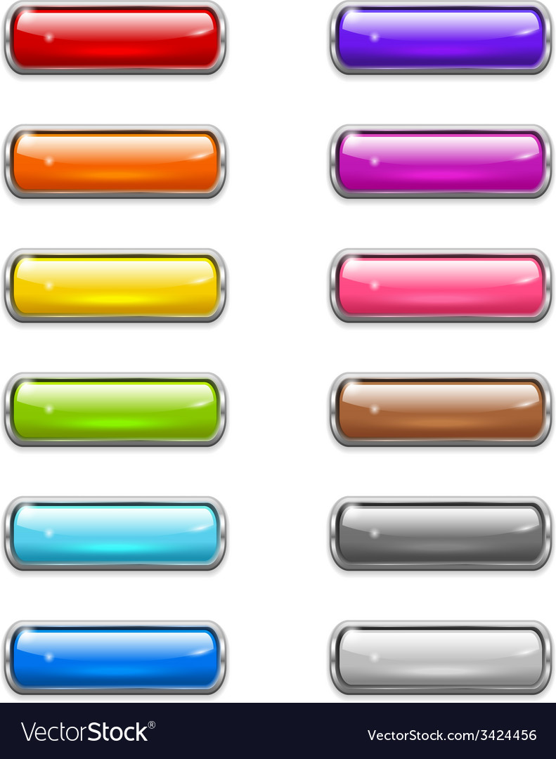 Modern shiny buttons vector