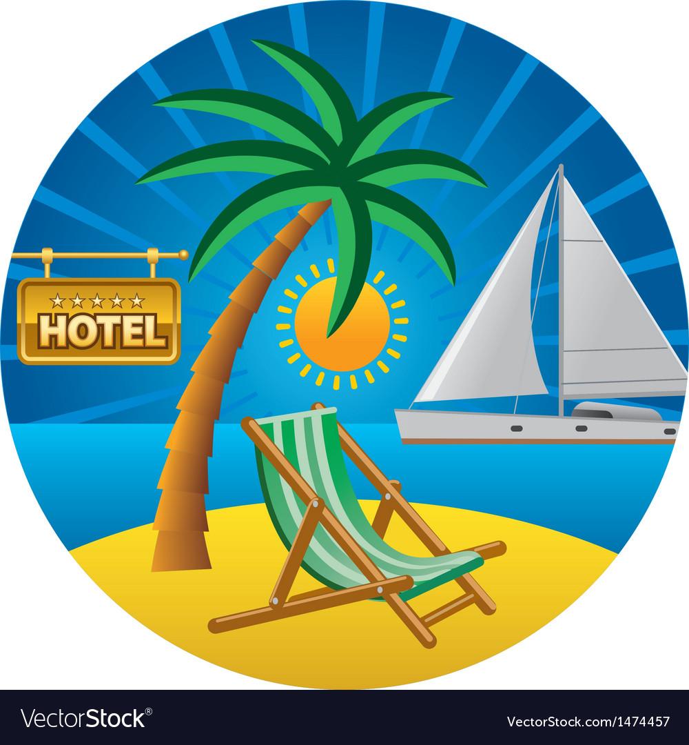 Beach travel vector
