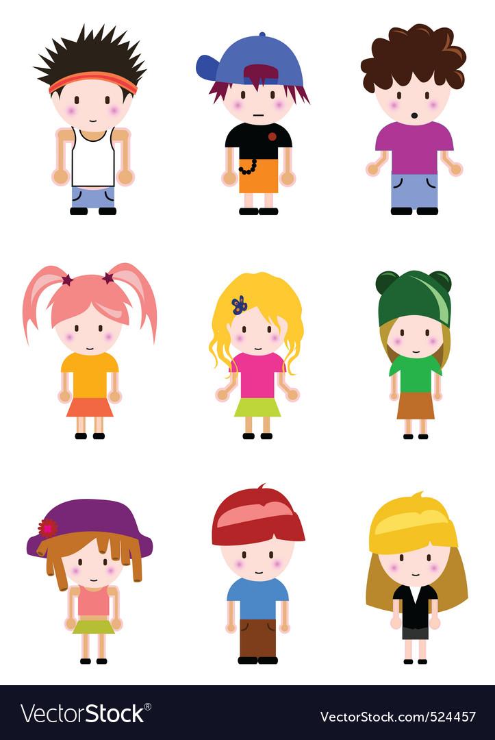 Cartoon kid vector