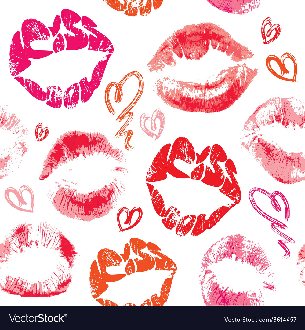Kiss lips seamless 380 vector