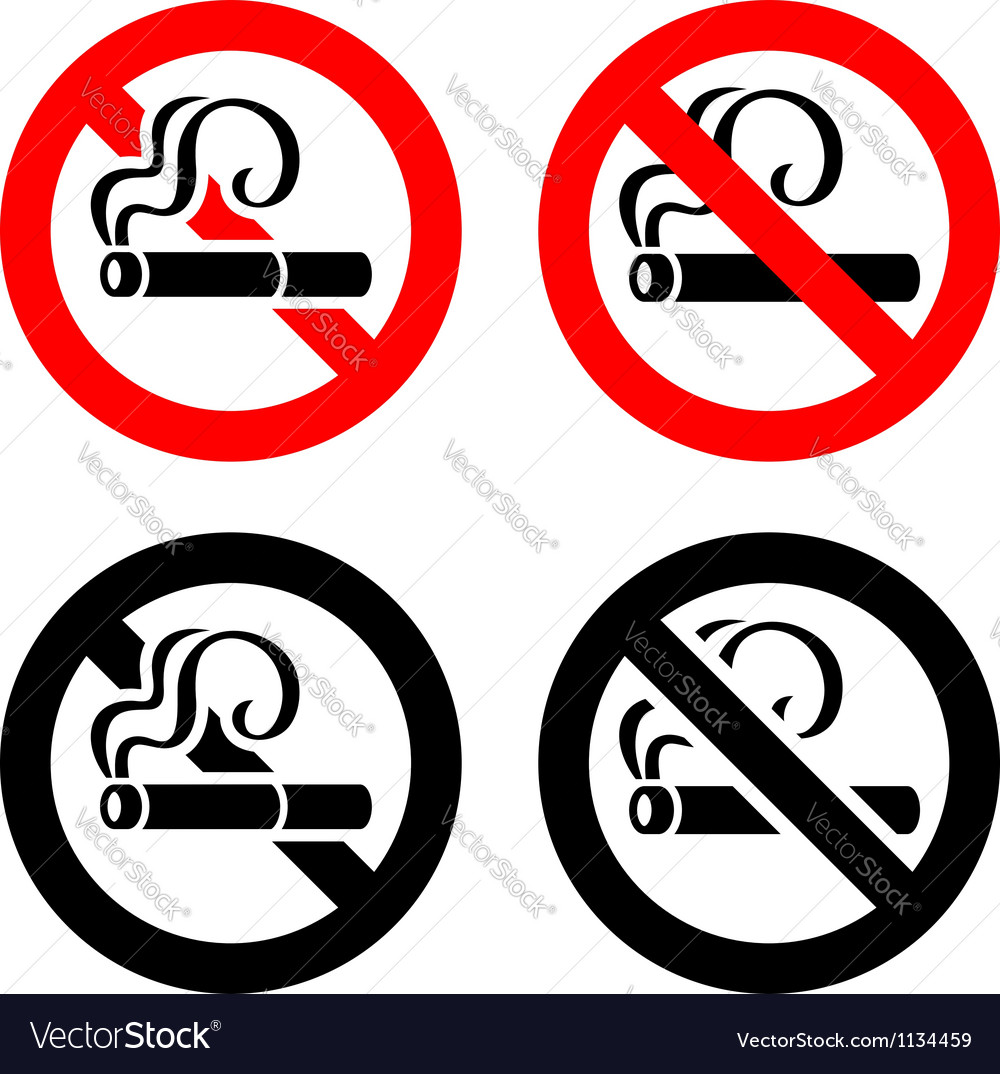 Set signs - no smoking vector