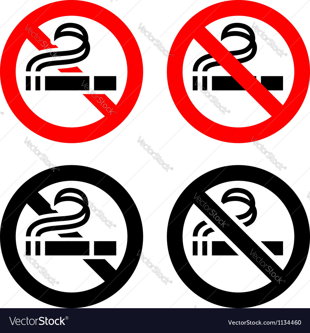 No smoking symbols vector