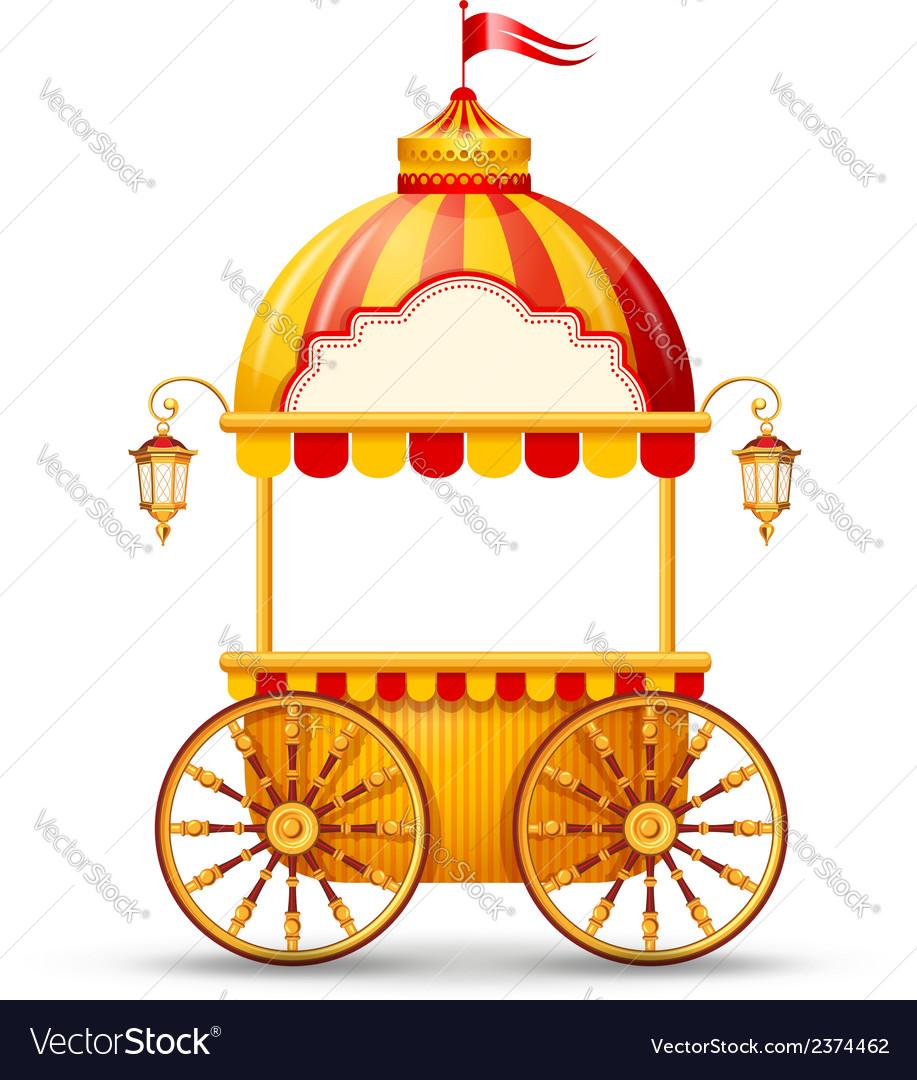Cart stall vector