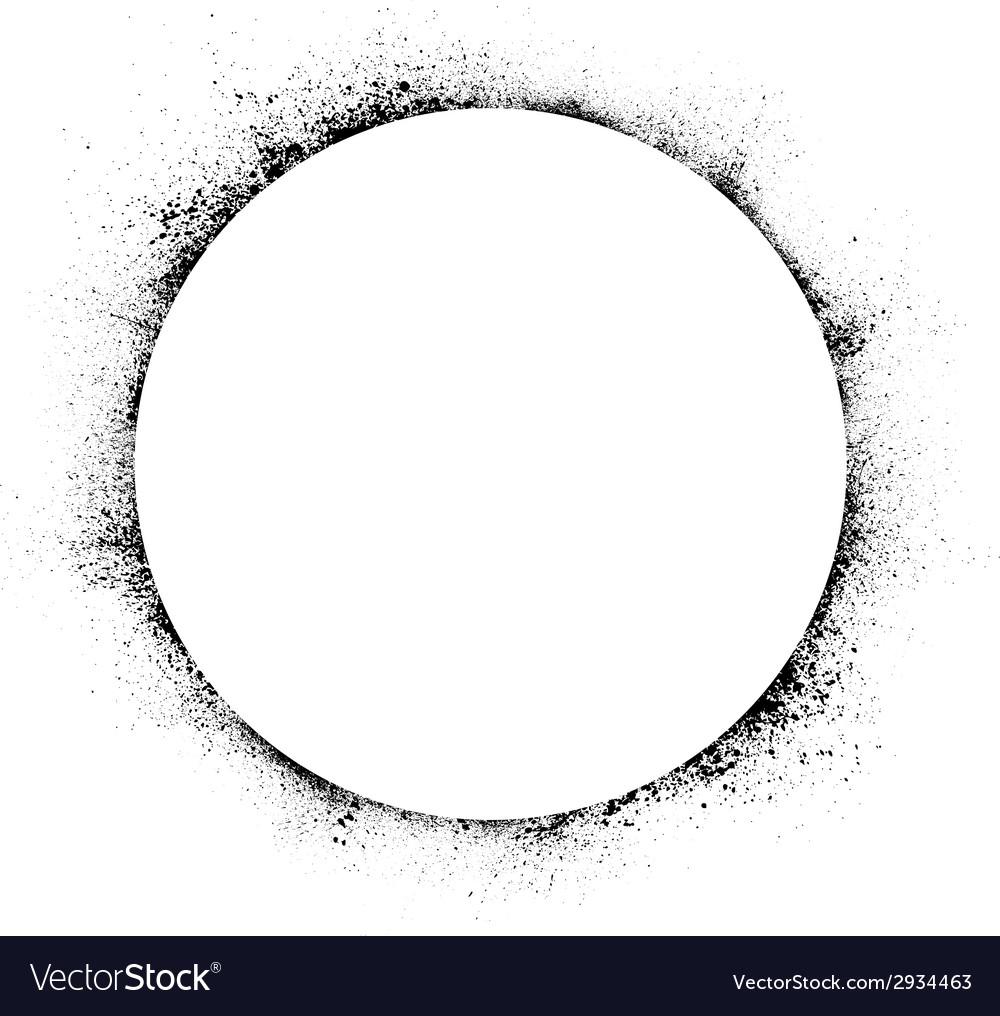 Circle ink blots background vector