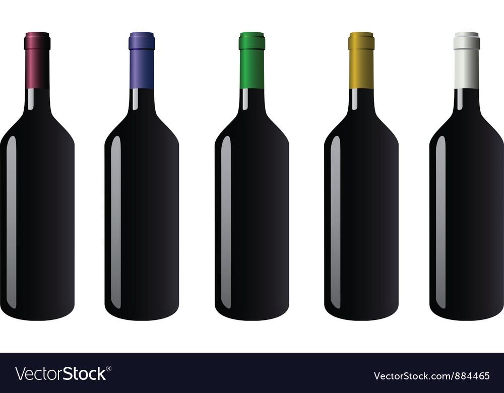 Bottle red vector