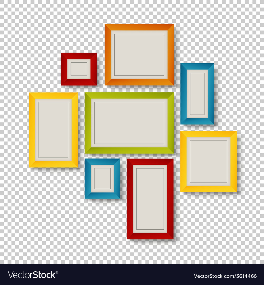 Group of colorful frames vector