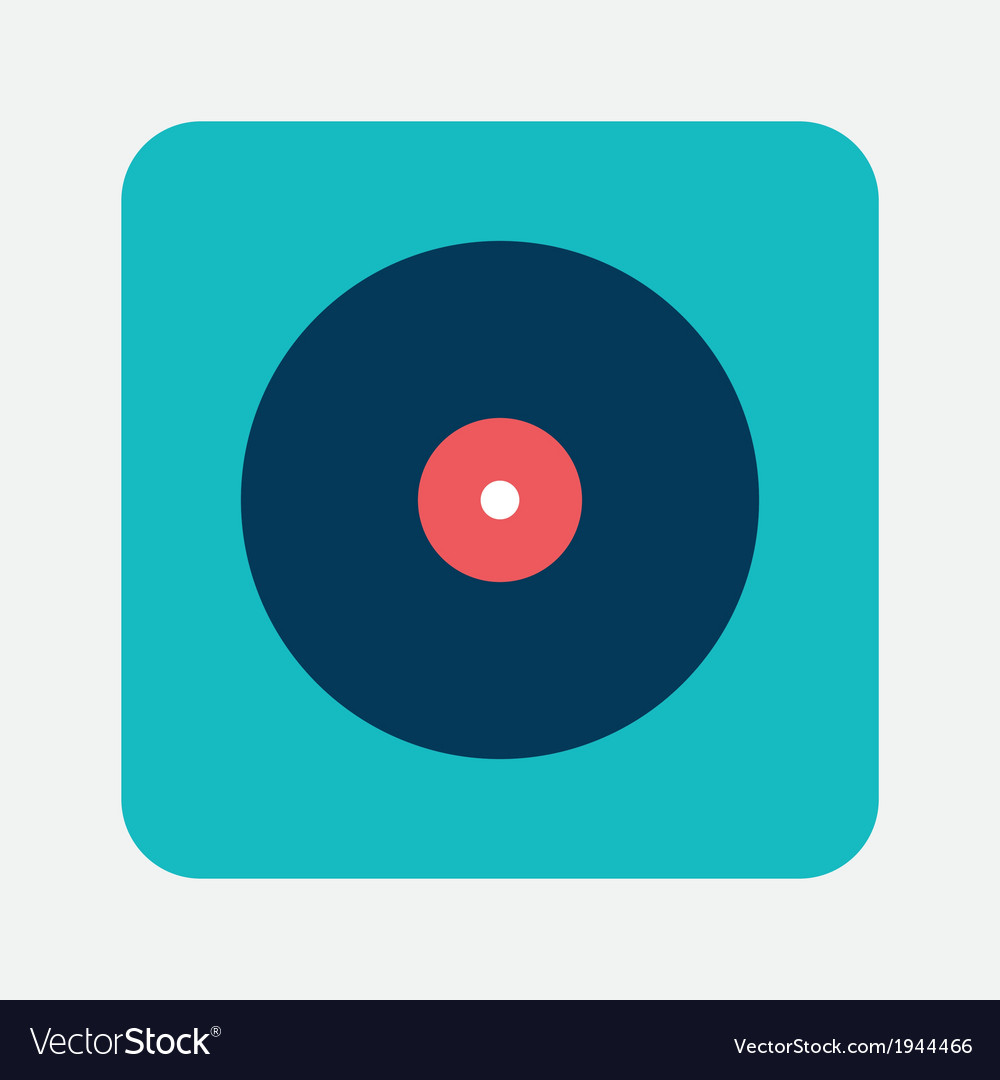 Musical record icon vector