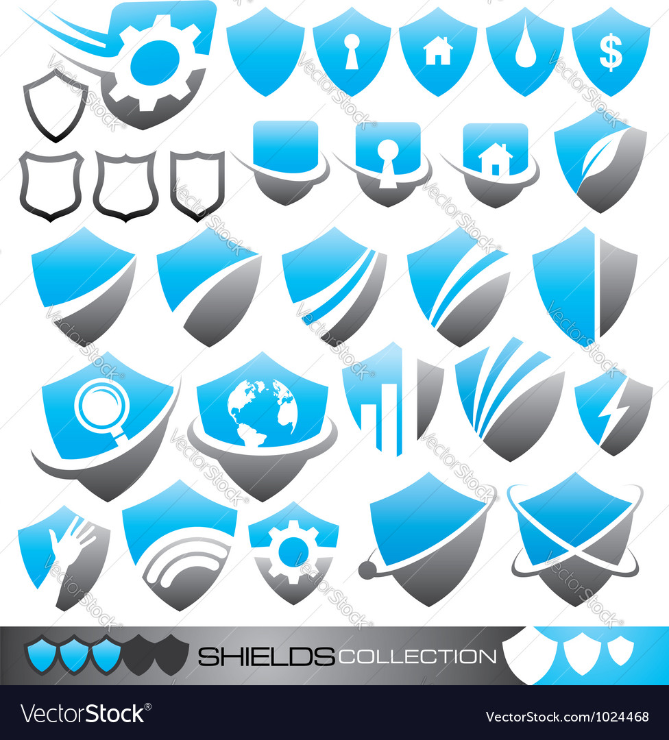 Security shield - symbols icons and logo concepts vector
