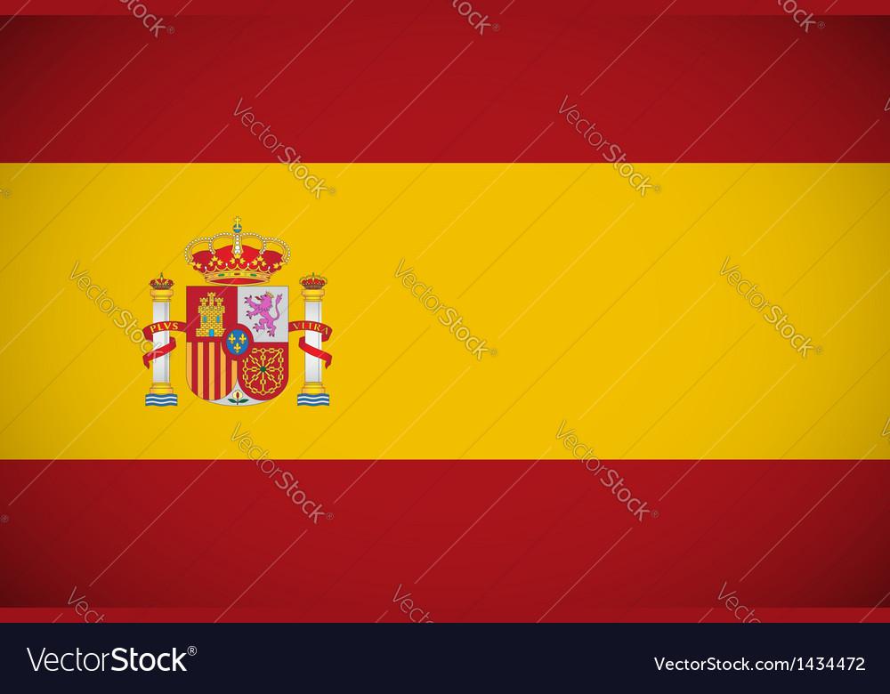Spanish flag vector