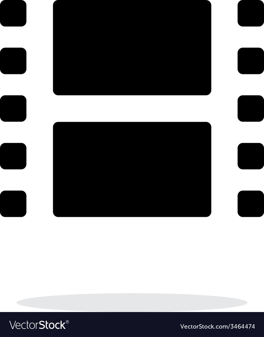 Film icon on white background vector