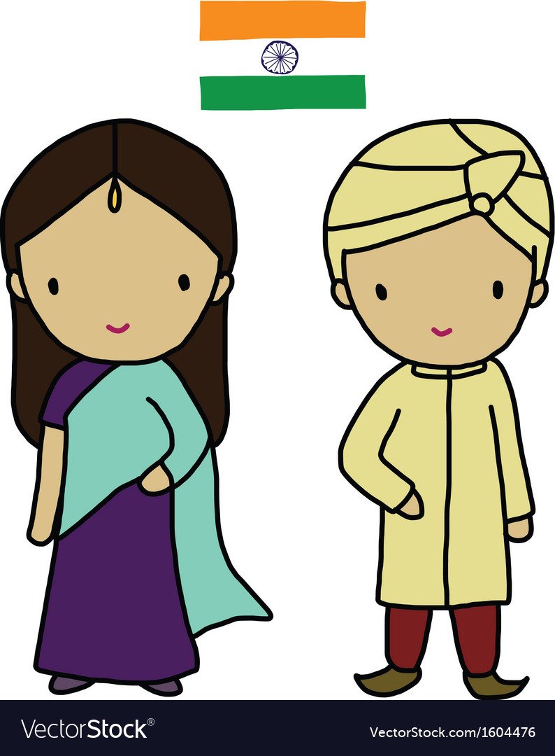 Indian traditional dress vector