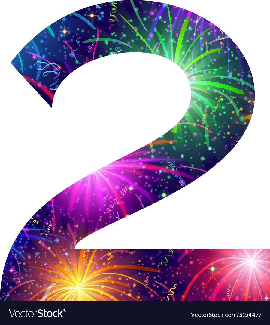 Number of colorful firework two vector