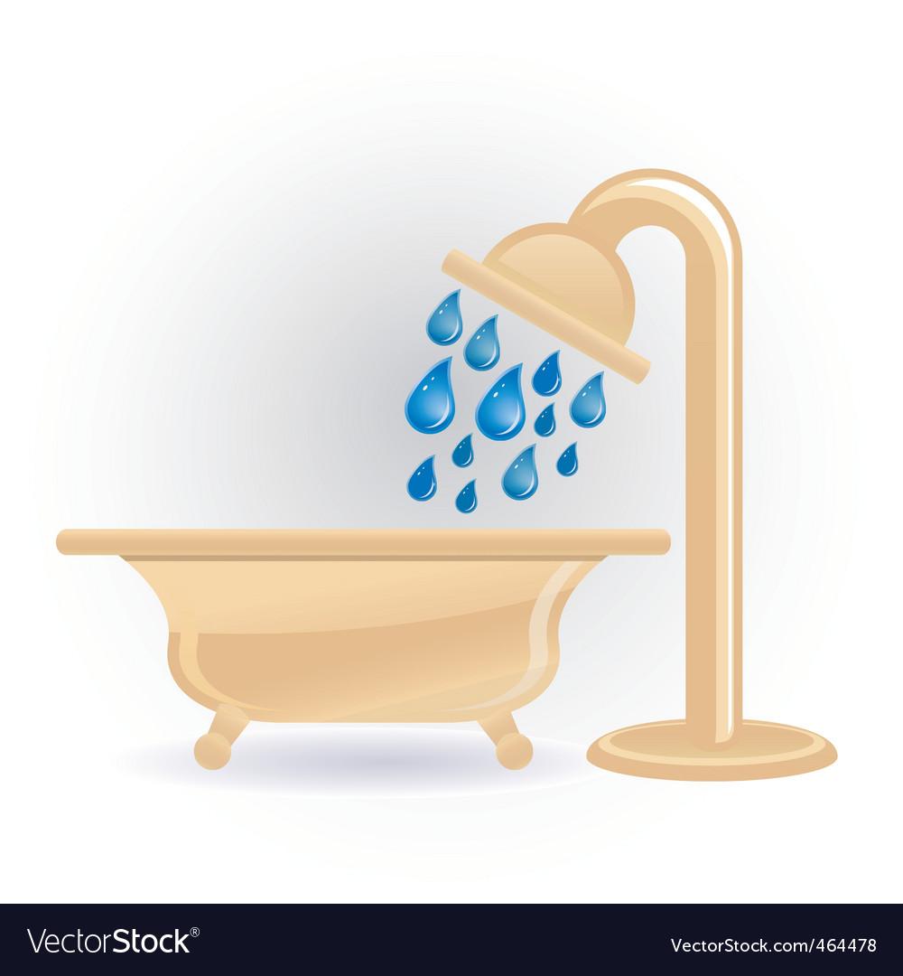 Shower icon vector