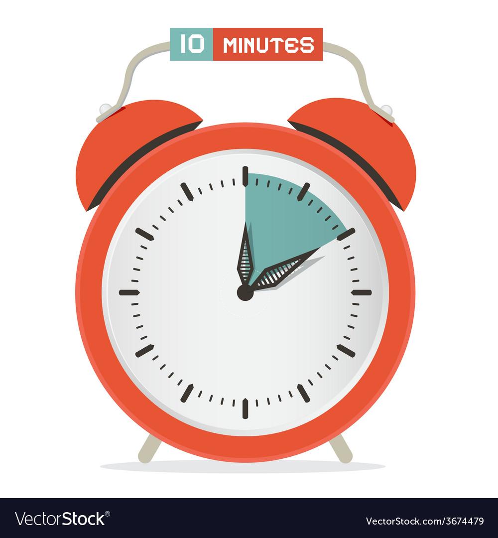 Ten minutes stop watch - alarm clock vector