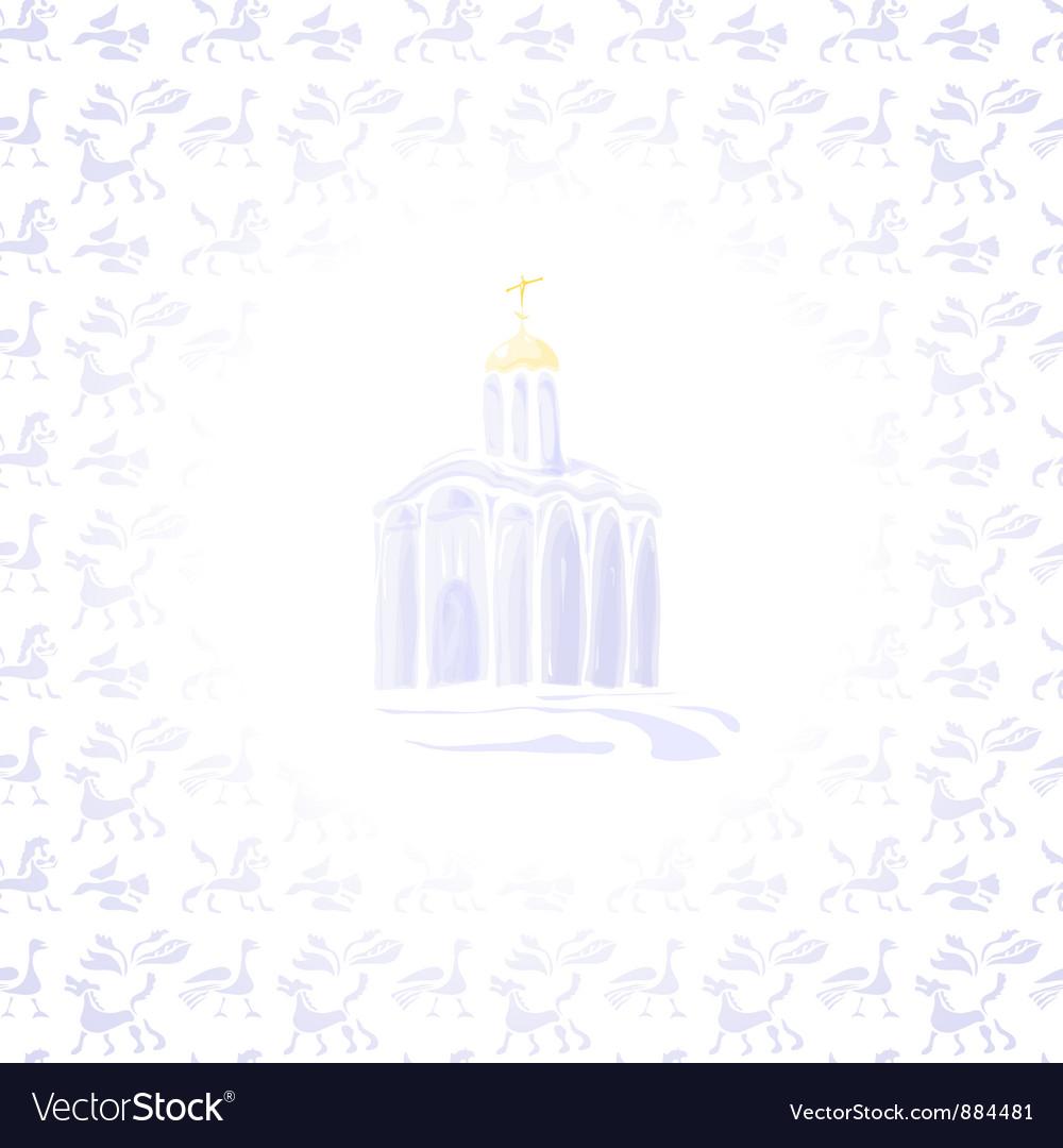Light temple vector