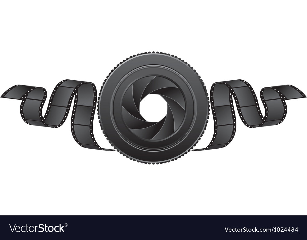 Lens and film vector