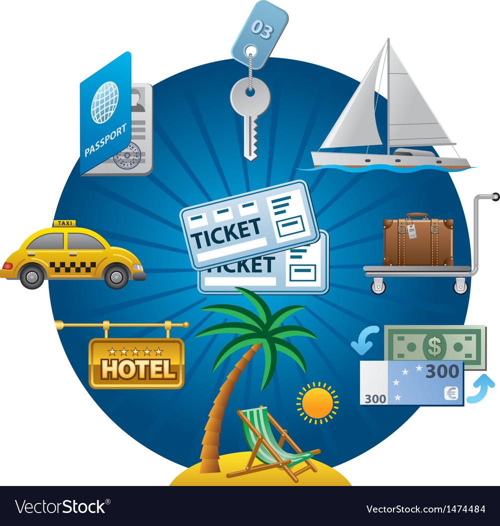 Travel concept icon vector