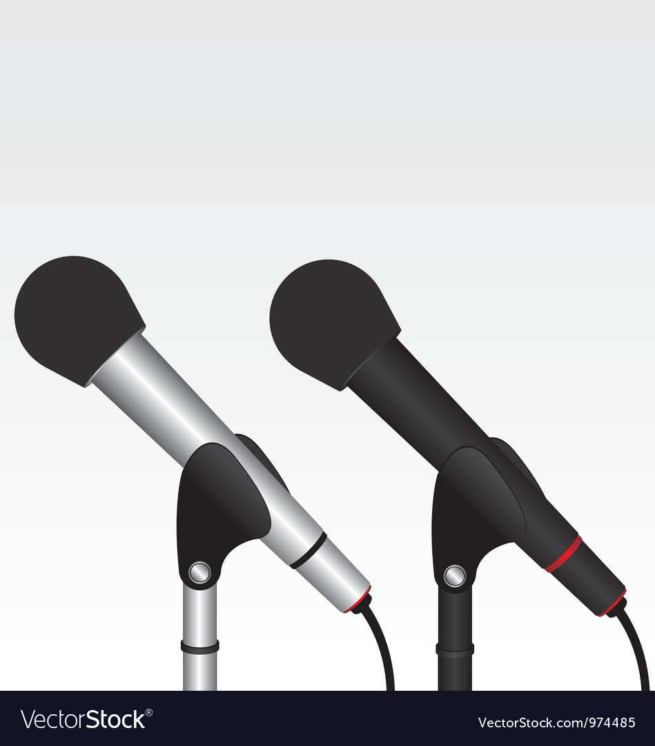 Microphone black and silver vector