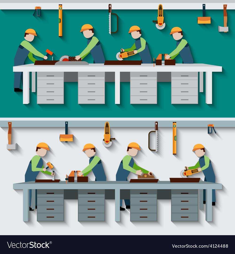 Carpentry workshop vector