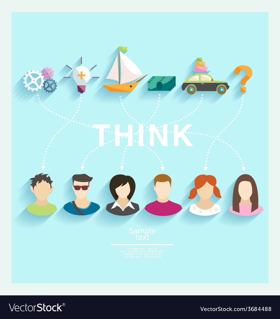 People thoughts vector