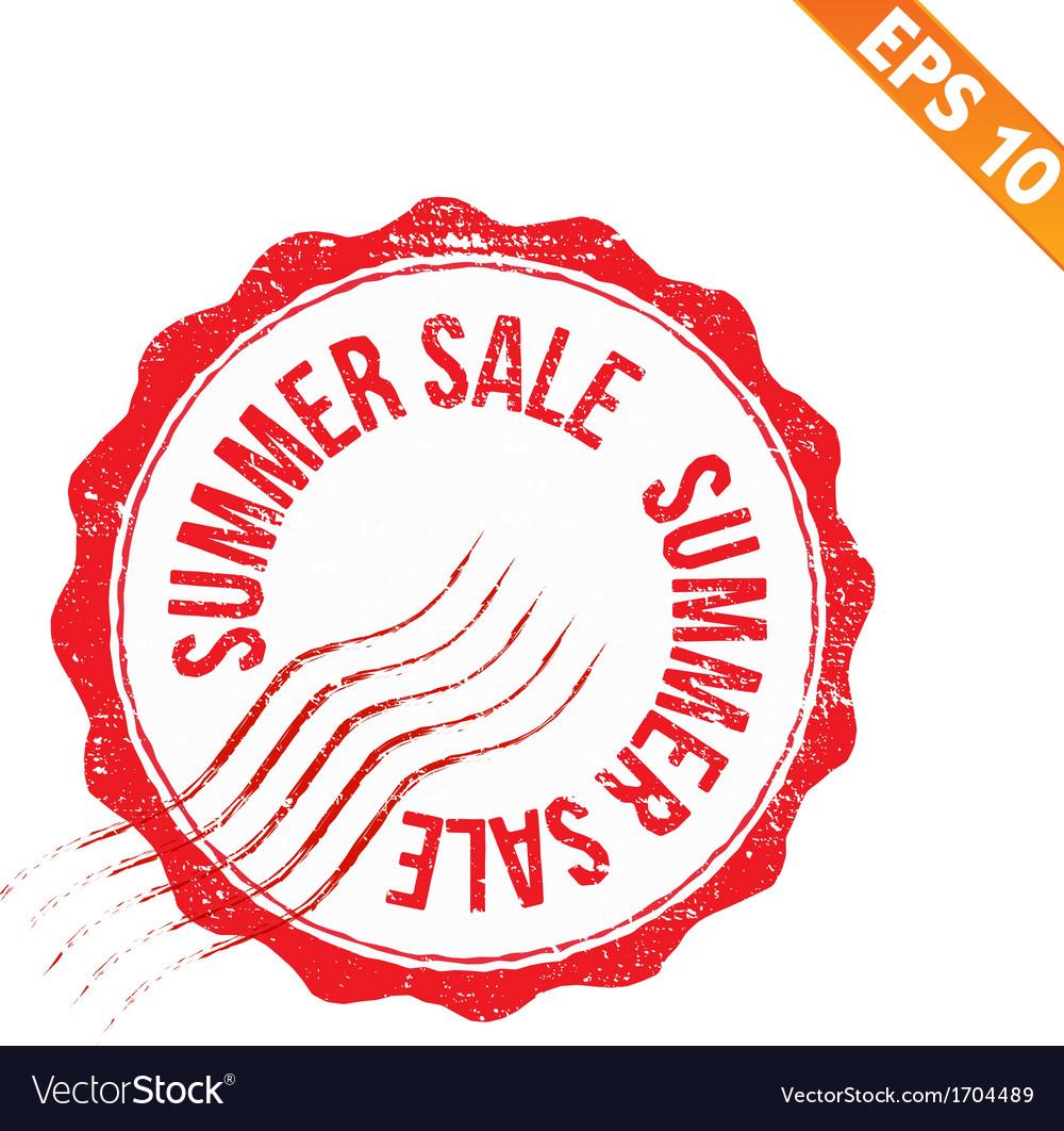 Rubber stamp summer sale - - eps10 vector