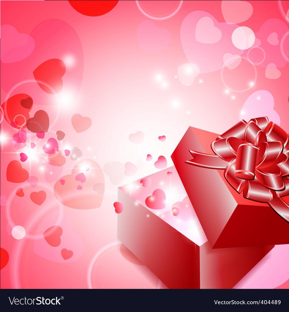 Valentine gift vector
