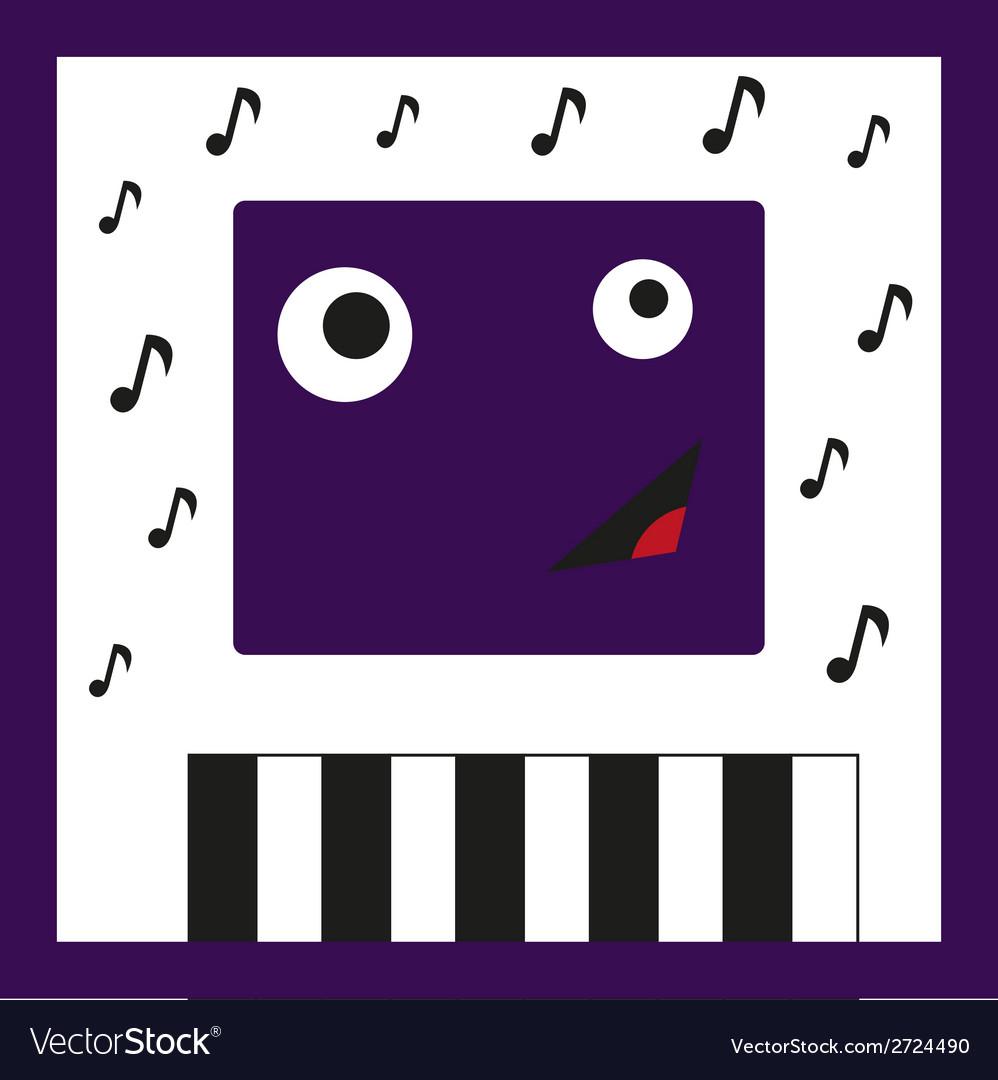 Monster musician vector