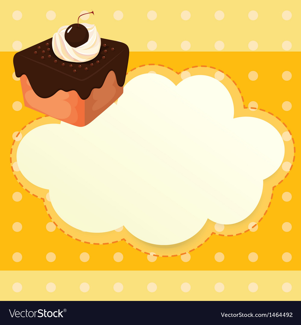 A stationery with a chocolate cake vector