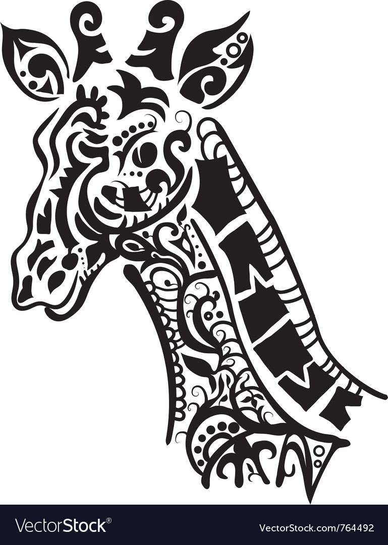 Decorative giraffe vector