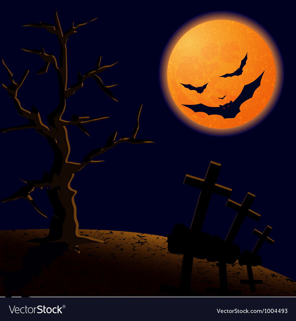 On halloween night vector