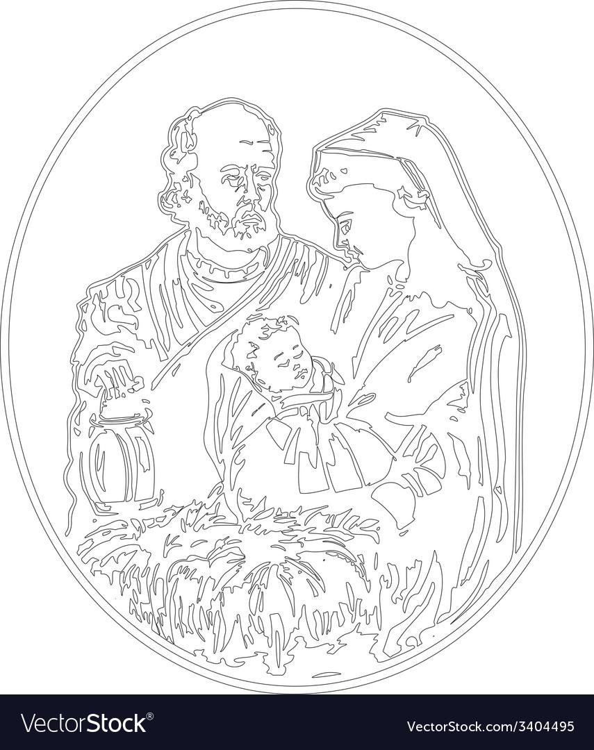 Jesus nativity vector