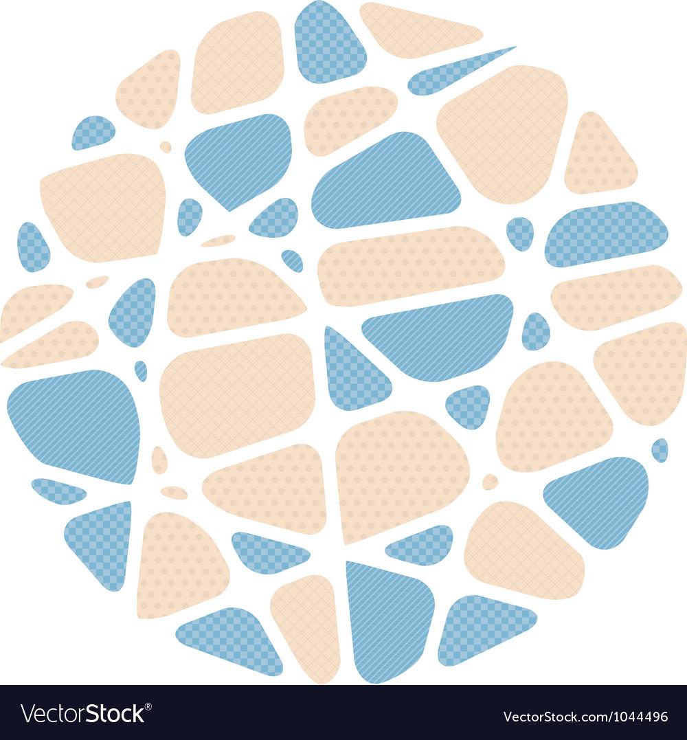 Abstract circle mosaic background vector