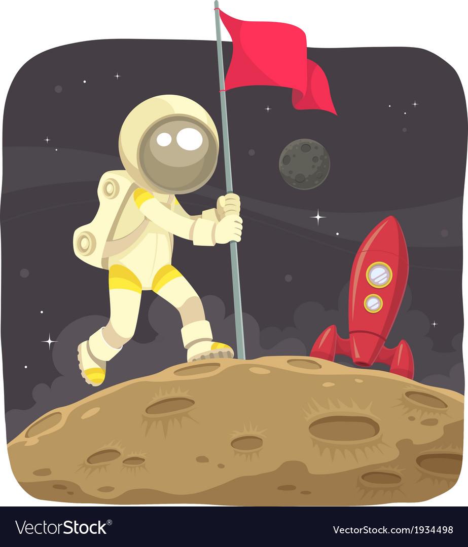 Space adventurer vector