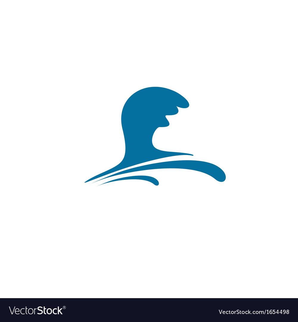 Water wave symbol vector