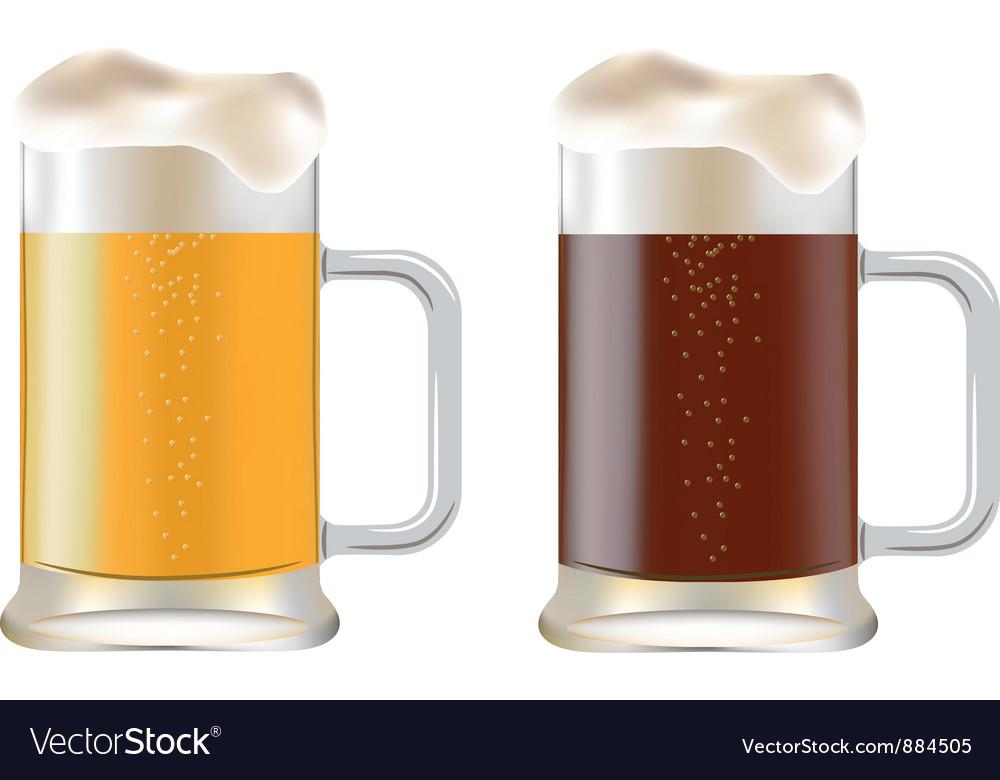 Mugs of beer vector